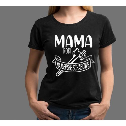T-shirt lady CZARNA Wszędzie dobrze ale u mamy najlepiej