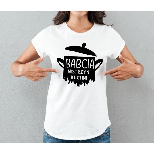 T-shirt lady SZARA Mama robi najlepsze schabowe