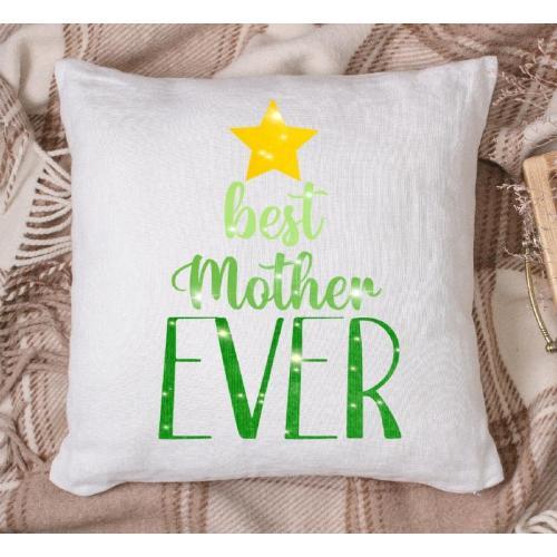 Poduszka druk Najlepsza mama serce