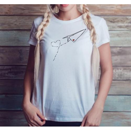 T-shirt lady slim DTG owl