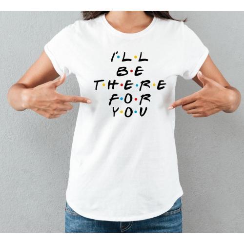 T-shirt lady slim DTG friends 2