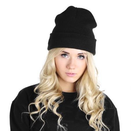 czapka krasnal czarna kobieta