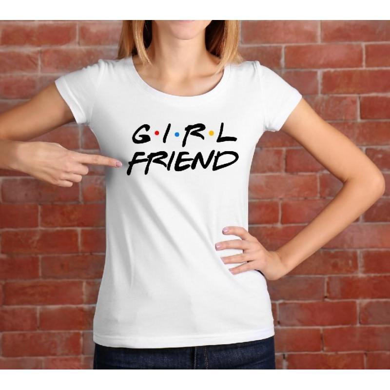 T-shirt lady slim DTG Girlfriend