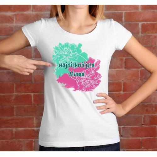 T-shirt lady Mama 01 green