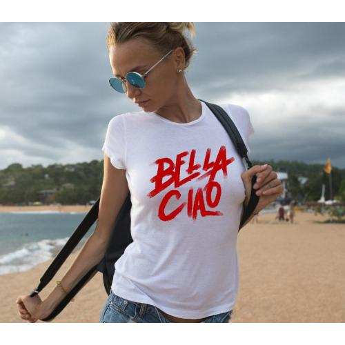 T-shirt lady slim DTG  bella ciao RB