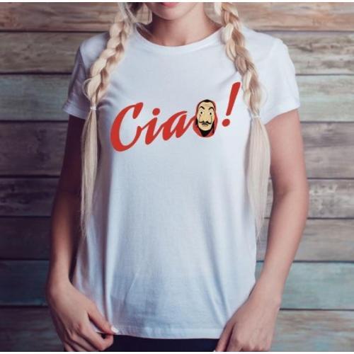 T-shirt lady slim DTG  El profesor