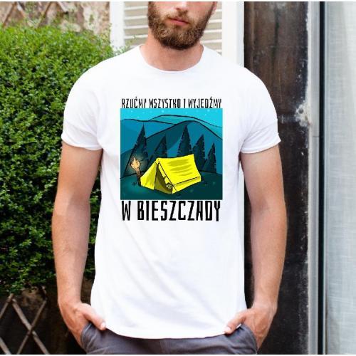 A gdyby tak rzucić wszystko i pojechać w Bieszczady koszulka