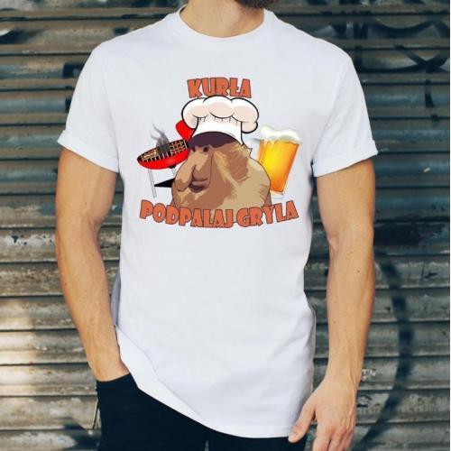 T-shirt oversize DTG Janusz- zrób mi tej kapuczyny