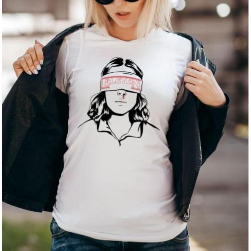 T-shirt lady slim DTG stranger things promise