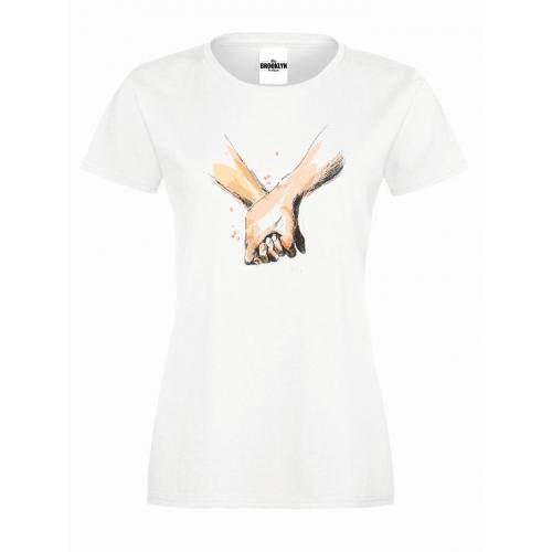 T-shirt lady slim DTG Dłonie