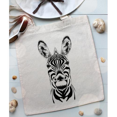 Torba bawełniana ecri zebra