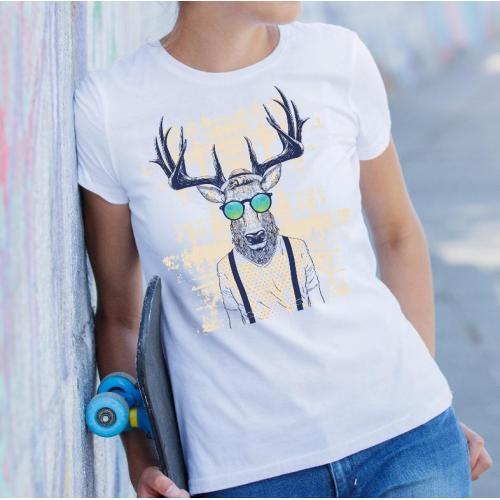 T-shirt lady slim DTG  Resist