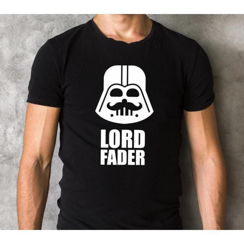 T-shirt oversize LORD FADER szaro-czarny
