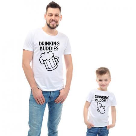 T-shirty dla taty i syna DRINKING BUDDIES 2 szt