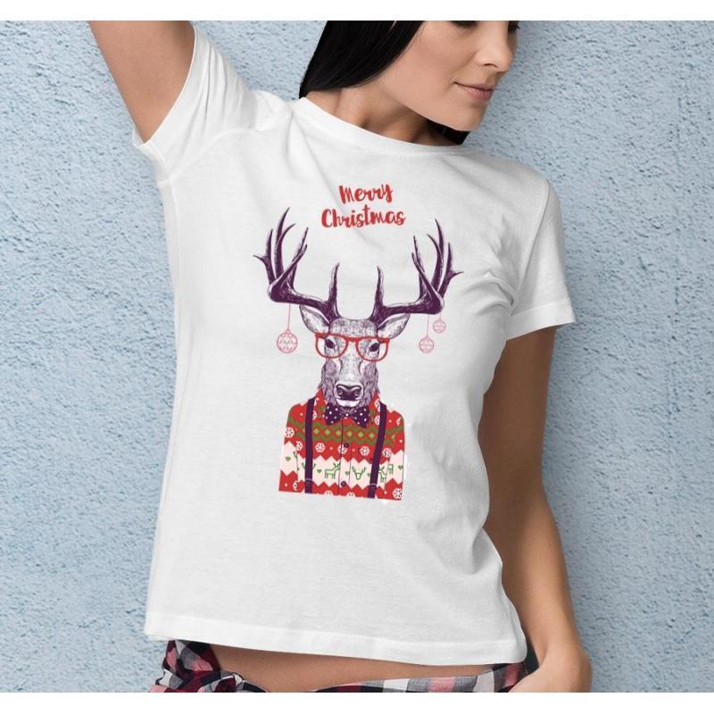 t-shirt Merry christmas deer