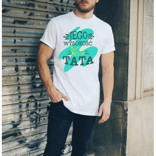 T-shirt oversize Najlepszy tata moro