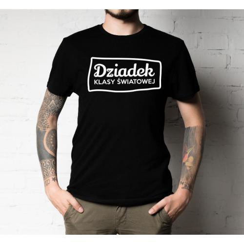T-shirt oversize dziadek klasy światowej