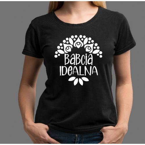 T-shirt lady Babcia Idealna 2