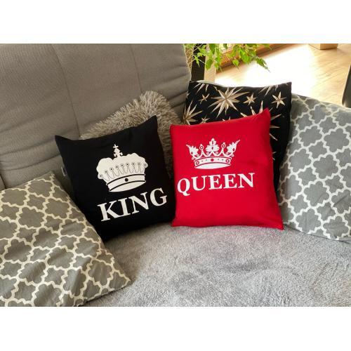 Poduszki King 01 & Queen 01 LION 2 szt black/red