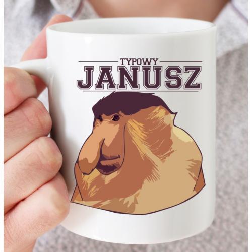 Kubek typowy Janusz - prezent dla chłopaka