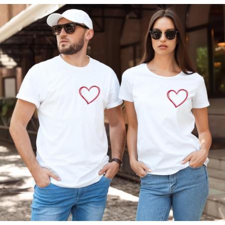 Koszulki z sercem - zestaw na walentynki