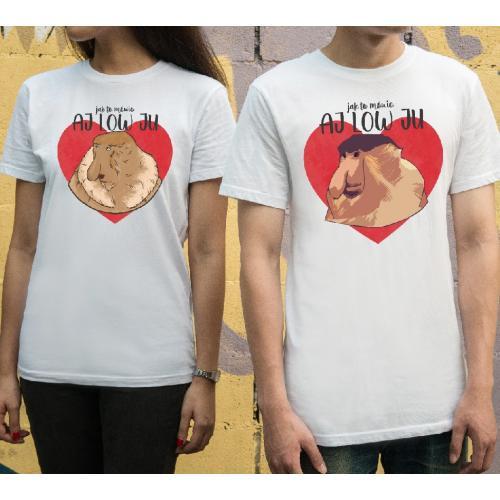 T-shirty dla par Aj Low ju