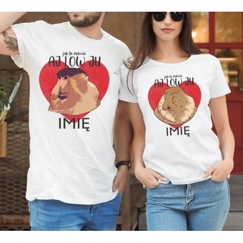 T-shirty dla par Aj Low ju...