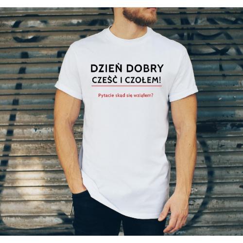 T-shirt oversize DTG Prl proszę państwa oto miś