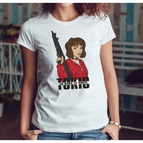 T-shirt lady slim DTG Maska...