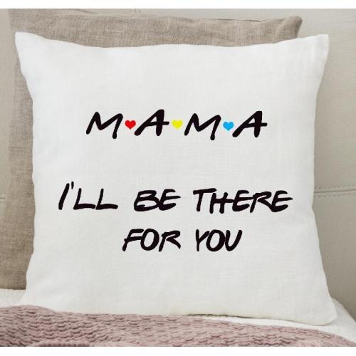 Poduszka druk Mama 01 green