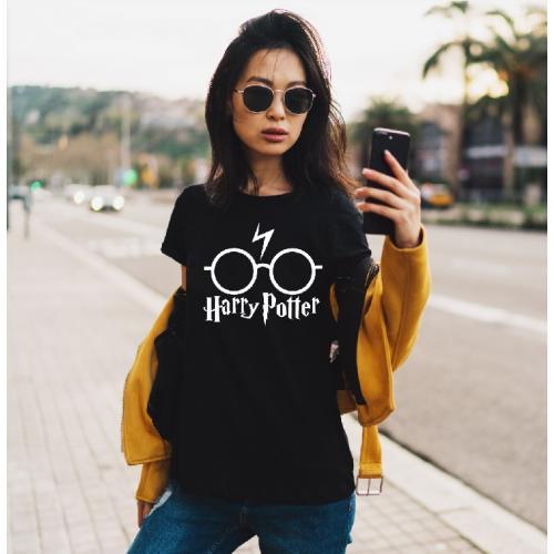 T-shirt lady czarna HP