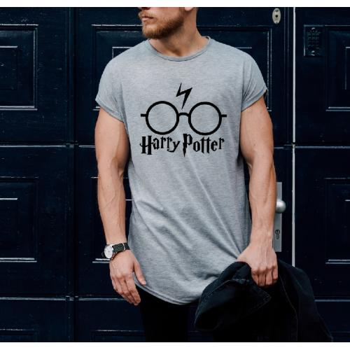 T-shirt oversize szara HP