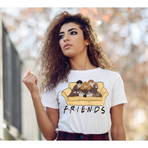 T-shirt lady slim HP friends