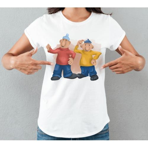 T-shirt lady slim PatMat Kleks
