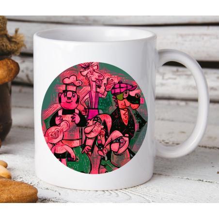 Kubek z nadrukiem Urodzeni w Prl Pixa pink