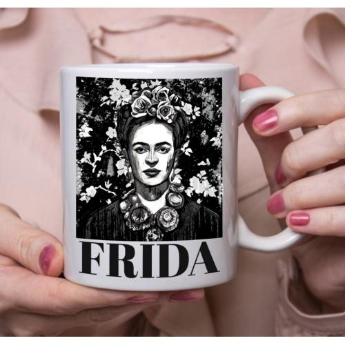 Kubek z nadrukiem Frida black