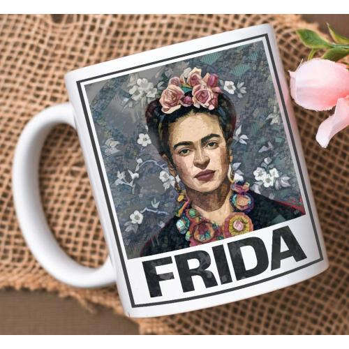 Kubek z nadrukiem Frida blue