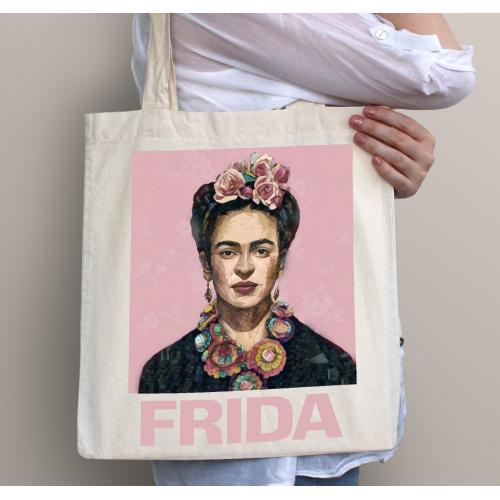 Torba bawełniana Frida pink