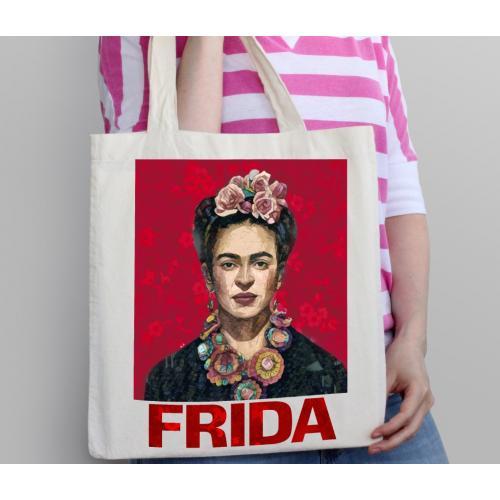 Torba bawełniana Frida red
