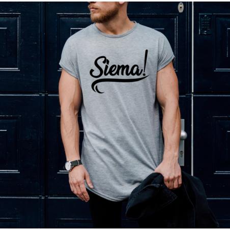 T-shirt oversize szara Siema