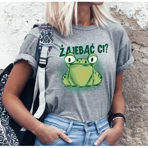 T-shirt lady SZARA Żajebać...