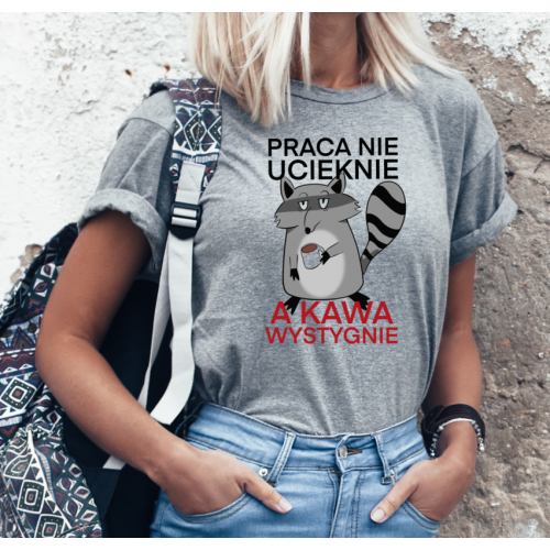 T-shirt lady SZARA Praca...