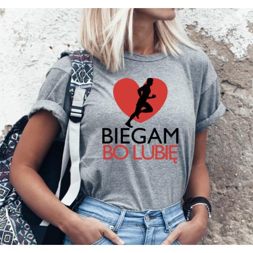 T-shirt lady SZARA Biegam...