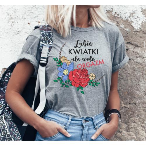 T-shirt lady SZARA Lubię...