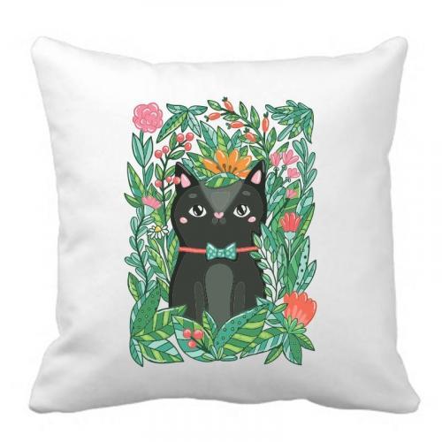 PODUSZKA druk DTG BLACK CAT