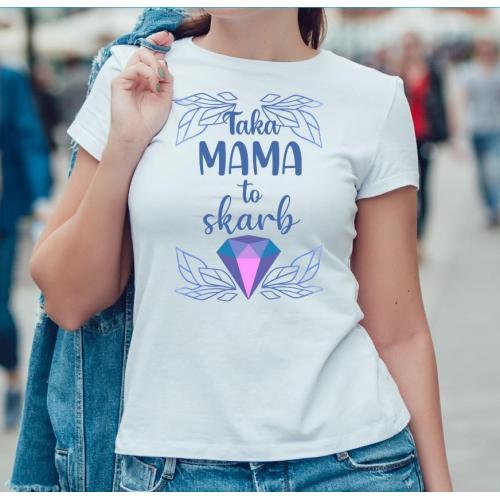 T-shirt lady slim DTG  Kochana mama 2