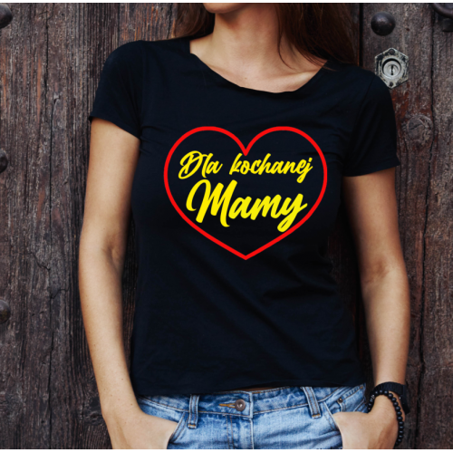 T-shirt lady czarna Dla...