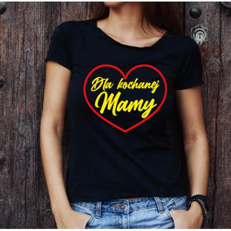 T-shirt lady czarna Dla Kochanej Mamy