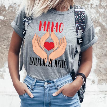T-shirt lady SZARA  Mamo dziękuje że jesteś