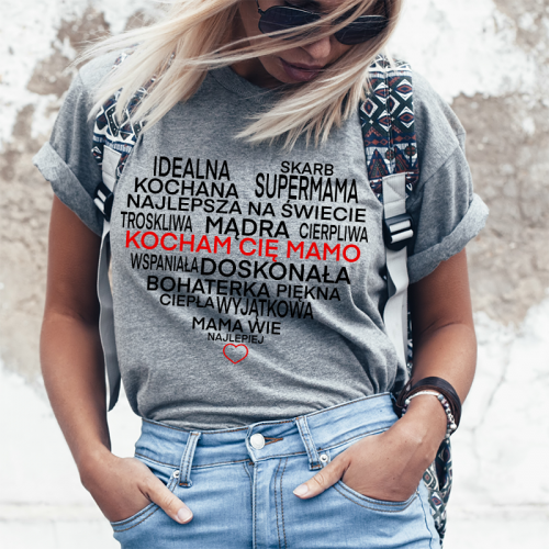 T-shirt lady SZARA  Mama...